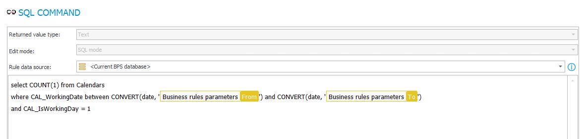 Zapytanie SQL zliczające dni robocze w podanym zakresie dat