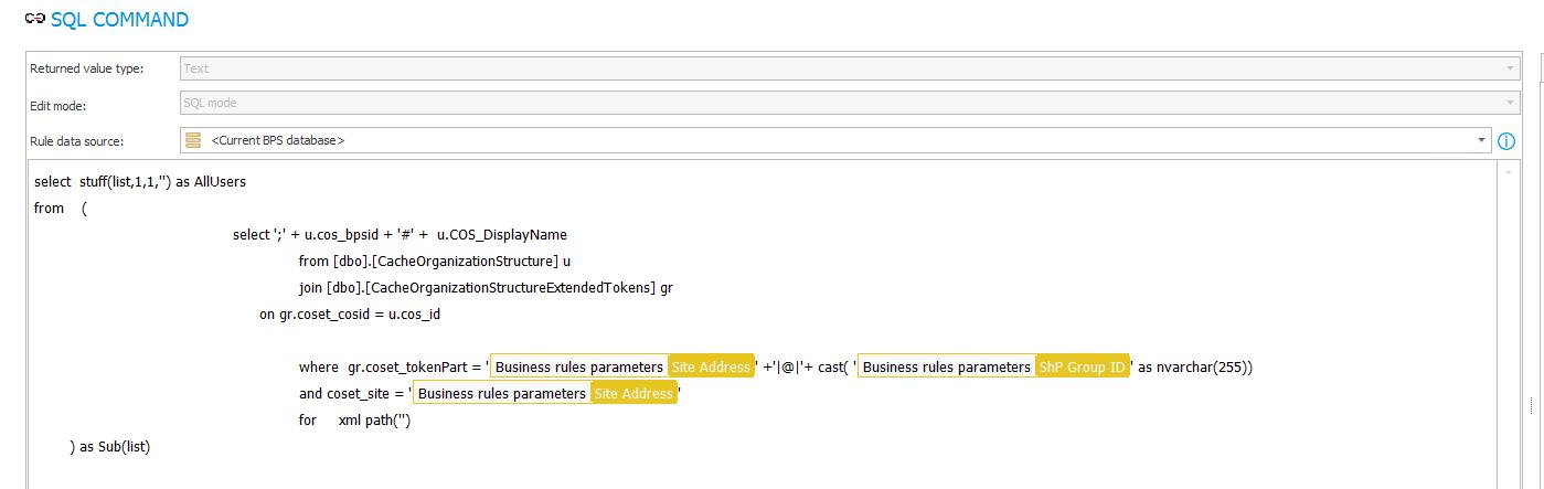 Zapytanie SQL służące do pobrania użytkowników grupy SharePoint
